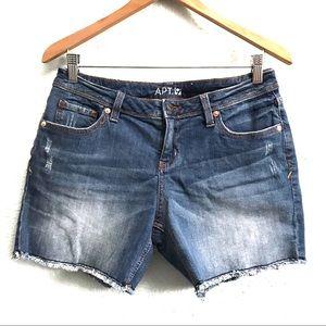 4/$25 Apt. 9 Distressed Cut Off Jean Shorts Size 4